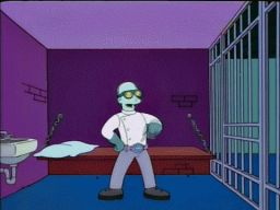 """He crossed that line between everyday villainy and cartoonish super-villainy."", -""Who Shot Mr. Burns? Part Two"""