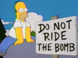 "Do Not Ride the Bomb, ""Homer the Vigilante"""