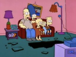 "Zombie Simpsons Couch Gag, -""Treehouse of Horror IV"""