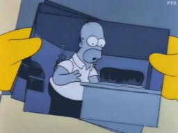 "Surveillance Photos of Homer Eating a Cake, -""Separate Vocations"""