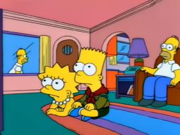 """Oh, Bart, cartoons don't have to be 100% realistic."", -""Boy Scoutz in the Hood"""