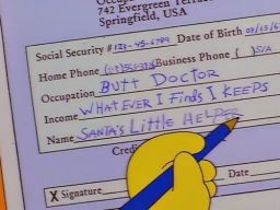 "Santos L. Halper's credit card application, -""The Canine Mutiny"""